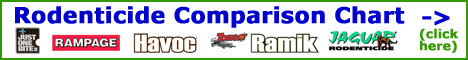 View our Comprehensive Rodent Control: Rat and Mouse Traps / Poison Comparison / Buying Guide.