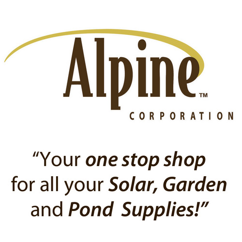 ALPINE CORPORATION Solar Powered Snowflake Garden Lights ASSORTED 33 INCH (Case of 16)