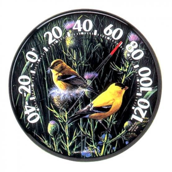 Goldfinches Indoor/Outdoor Thermometer 12.5 in. Best Price