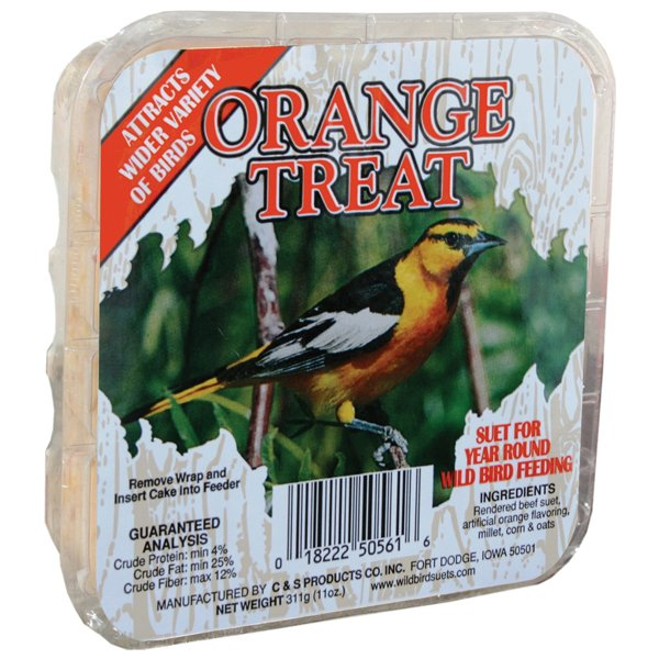Orange Suet Treat for Wild Birds  (Case of 12) Best Price