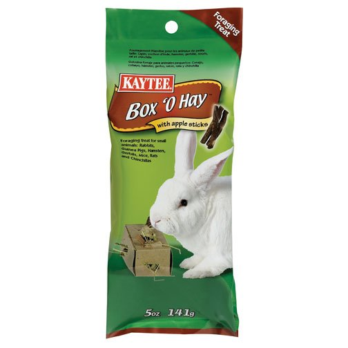 Box O Hay With Apple Sticks For Rabbits 0.5 Oz.