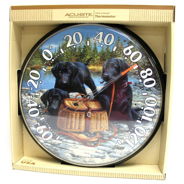 Black Lab Puppies Thermometer by Chaney Best Price