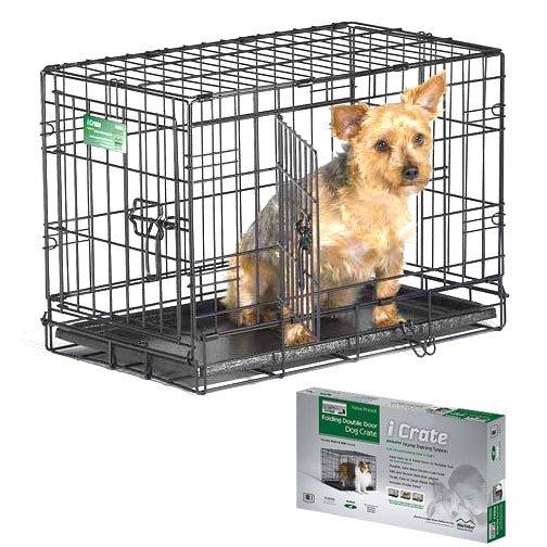 Icrate double door dog crate dog products gregrobert for Double door with dog door