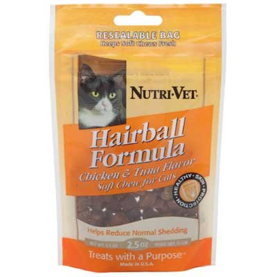 Hairball Formula Soft Chews For Cats 2.5 Oz.