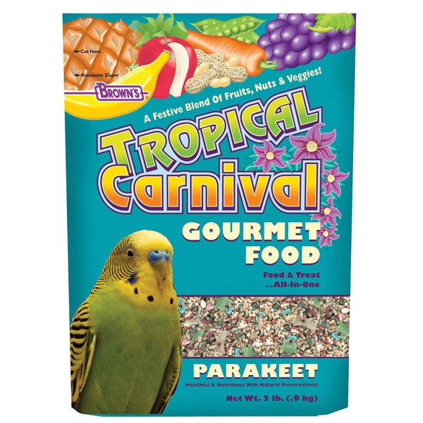 Tropical Carnival Gourmet Parakeet Food 2 Lb