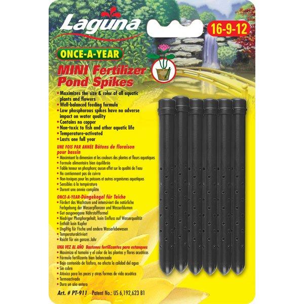 Laguna Once A Year Mini Fertilizer Pond Spikes 6 Pk.