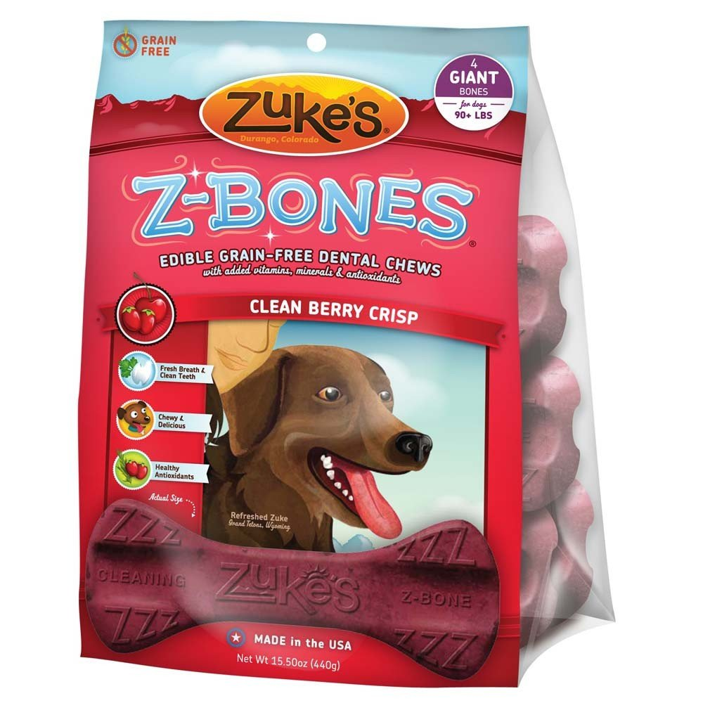 Z-bones Dental Chews - Berry Crisp / Giant 4 pk. Best Price