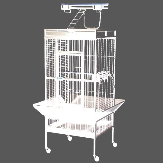 Bird Cage for Tiels / Parrots 24x20x60 in. / Color (Speckled White) Best Price