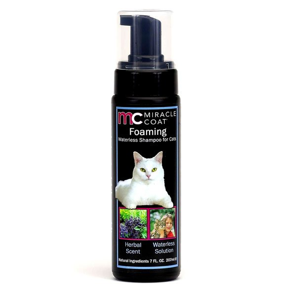 Miracle Coat Foaming Waterless Shampoo For Cats 7 Oz