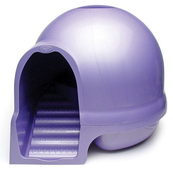 Booda Dome Clean Step Litter Box / Color (Iris (pale purple)) Best Price