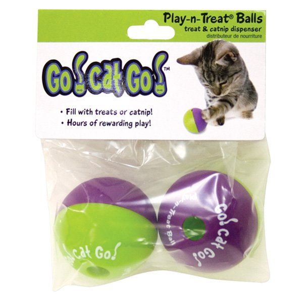 Play N Treat Cat Ball 2 Pack