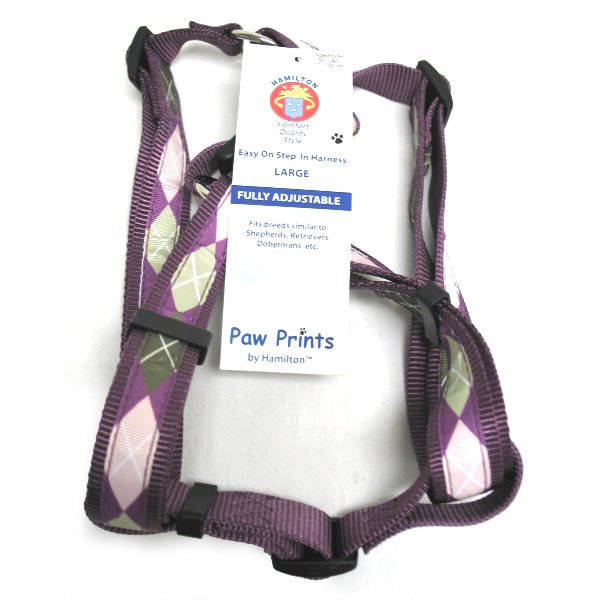 Adj. Easy On Dog Harness / Size (Argyle Plum 1 x 30-40 in.) Best Price