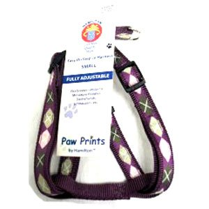 Adj. Easy On Dog Harness / Size (Argyle Plum 5/8 x 12-20 in.) Best Price