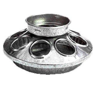 Galv. Round Jar Feeder Base 1 qt. Best Price