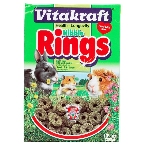 Vitakraft Nibble Rings For Small Animals 11oz