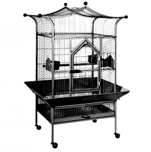 Royalty Black Bird Cage 27 X 21 X 58.5 Best Price