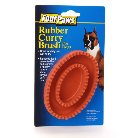 Rubber Curry Brush for Pets (Four Paws) Best Price