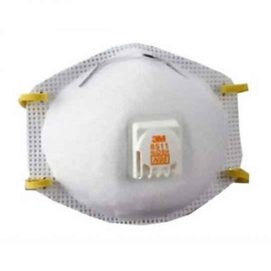 8511 Respirator with Valve - 10 pk. Best Price