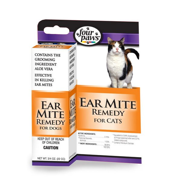 Four Paws Ear Mite Remedy - Cats - .75 oz. Best Price