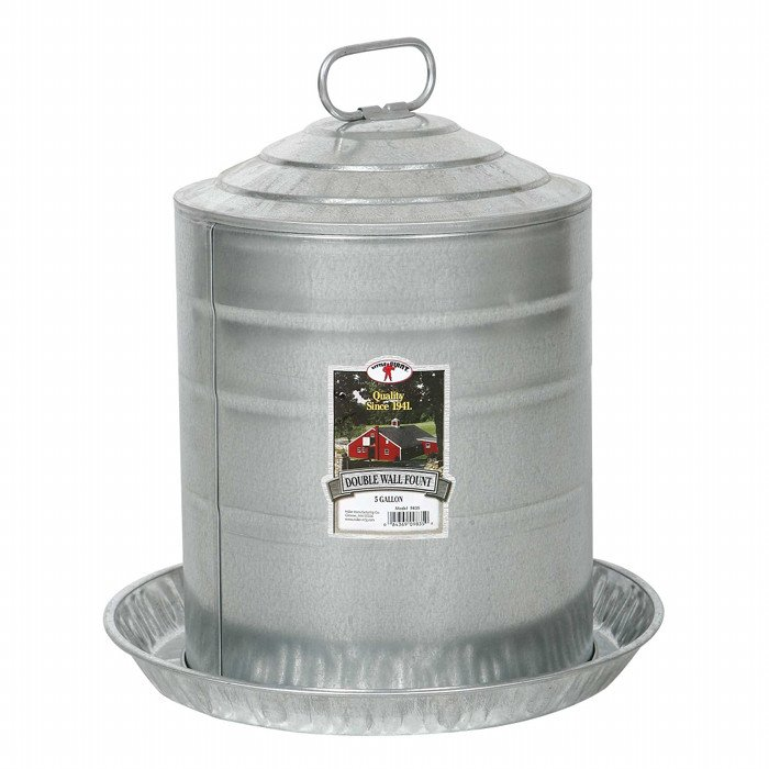 Galvanized Double Wall Fountains / Size (5 gallon) Best Price