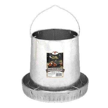 Galvanized Hanging Feeder for Wild Game Birds / Size (12 lbs.) Best Price