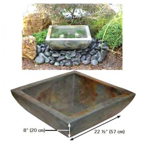 Square Garden Water Bowl