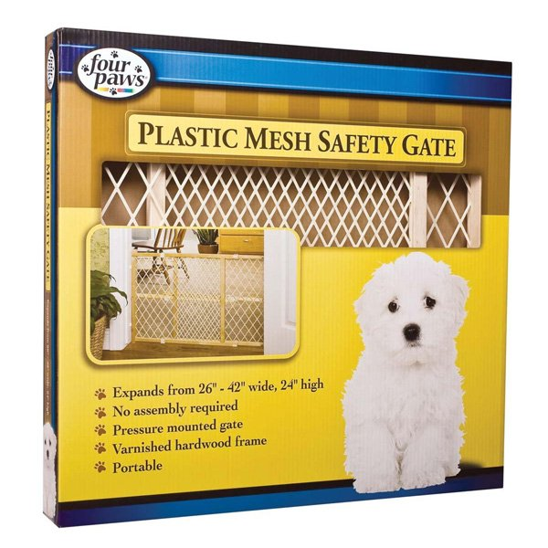 Four Paws Safety Pet Gate With Plastic Mesh - 26-42 Inch Best Price