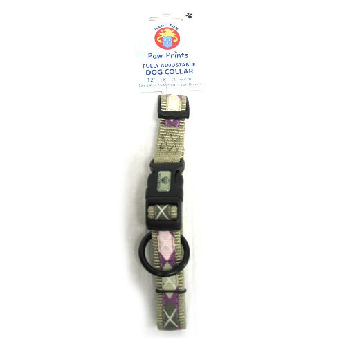 Stylish Adj. Dog Collar / Size (Argyle Sage 5/8 x 12-18 in.) Best Price