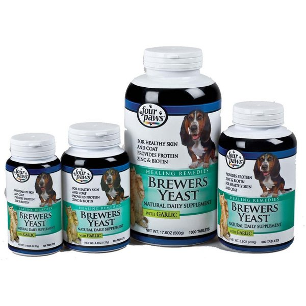 Brewers Yeast Dog Supplement With Garlic Four Paws Dog