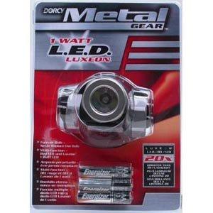 1 Watt Metal Gear LED Headlight with 3 AAA Batteries Best Price
