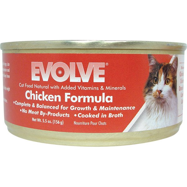 Evolve Chicken Formula Natural Cat Food 5.5 oz. cans  (Case of 24) Best Price