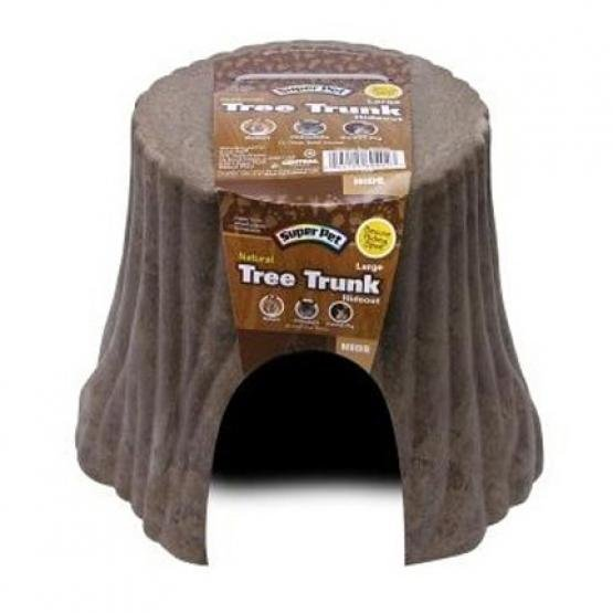 Super Pet Natural Tree Stump Hideout / Size Small 5.5 X 5 X 3.75