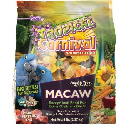 Tropical Carnival Gourmet Macaw Big Bites Food 5 Lb.