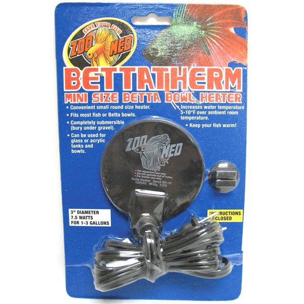 Bettatherm Betta Bowl Heater - 7.5 Watt Best Price