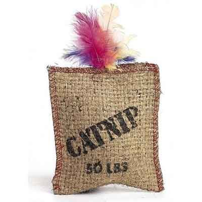 Jute and Feather Sack Catnip Cat Toy Best Price