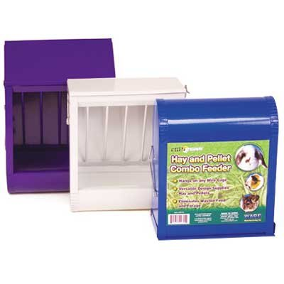 Chew Proof Hay and Pellet Combo Feeder for Small Pets - 6 X 3 X 7 in. Best Price