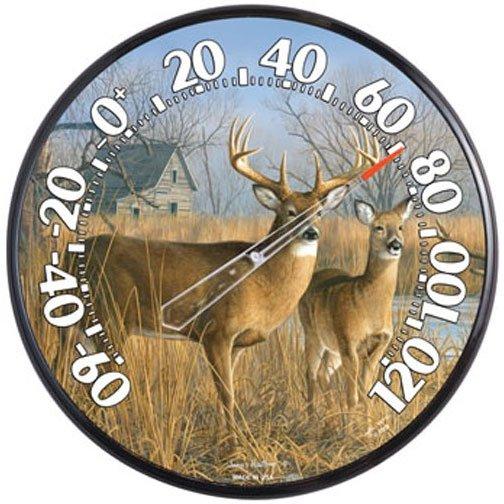 Indoor/Outdoor Deer Thermometer - 12.5 inches Best Price