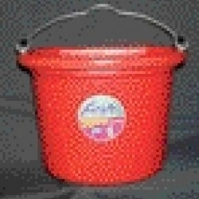 8 Qt. Flatback Household Bucket / Color (Red) Best Price