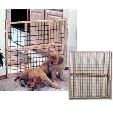 Wire Mesh Dog Gate - Adjustable - 26-42 Inch Best Price
