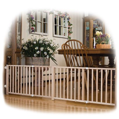 Extra Wide (48-80 W by 18 H ) Wooden Dog Gate Best Price