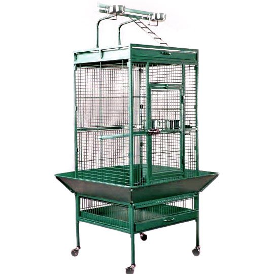 Bird Cage for Tiels / Parrots 24x20x60 in. / Color (Smooth Jade) Best Price