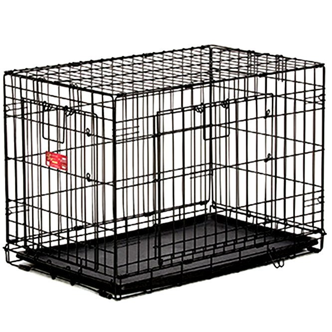 Ace Double Door Dog Crate / Size 36 X 23 X 25 In.