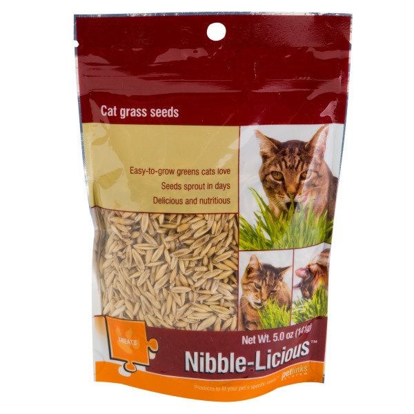 Nibble Licious Seeds For Cat Grass 5 Oz.