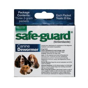Safe Guard Dog Wormer Fenbendazole Granules / Size 20 Lbs.