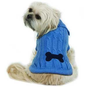 Bonepatch Cable Knit Sweater for Dogs / Size (Large/Blue) Best Price