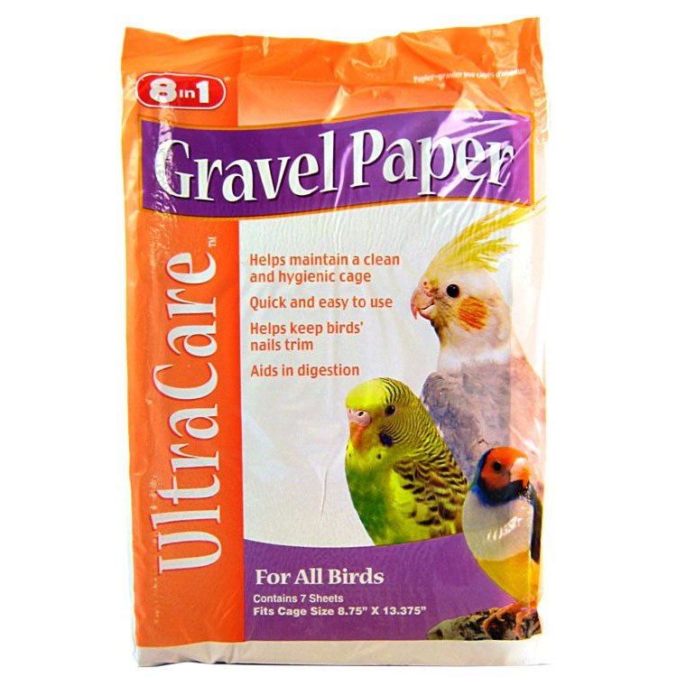 8 in 1 Avian Gravel Paper for Bird Cages / Size (8 3/4 x 13 3/8 in.) Best Price