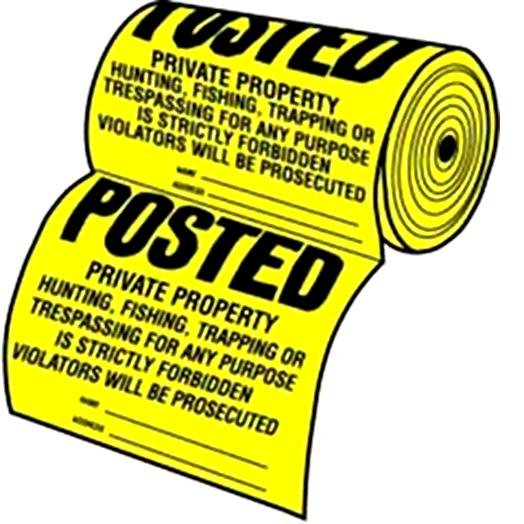 Yellow Posted Private Property Signs Best Price