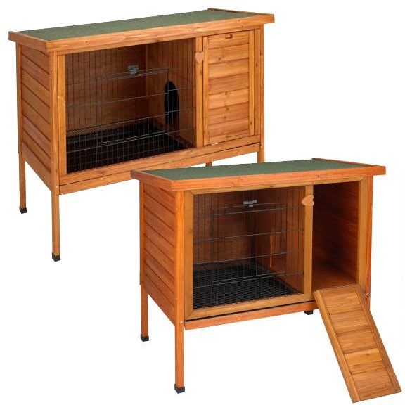 Premium+ Outdoor Wood Rabbit Hutch / Size (Large) Best Price