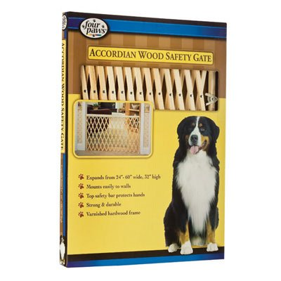 Wood Expansion Hardware Mounted Dog Gate  - 24-60 Inch Best Price