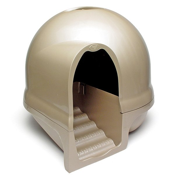 Booda Dome Clean Step Litter Box / Color Titanium Goldish Tan